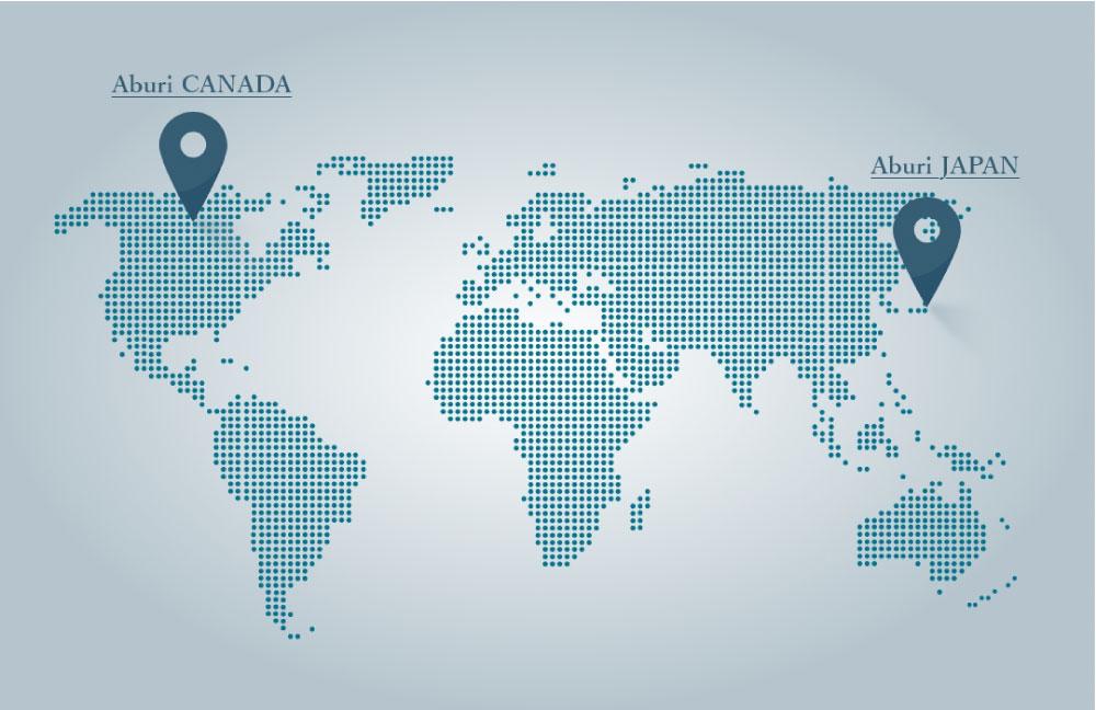 Aburi世界地図